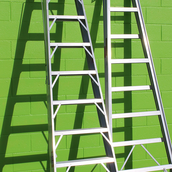 """Two ladders against a wall"""