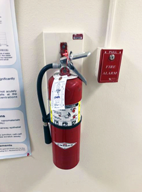 Photo of fire extinguisher.