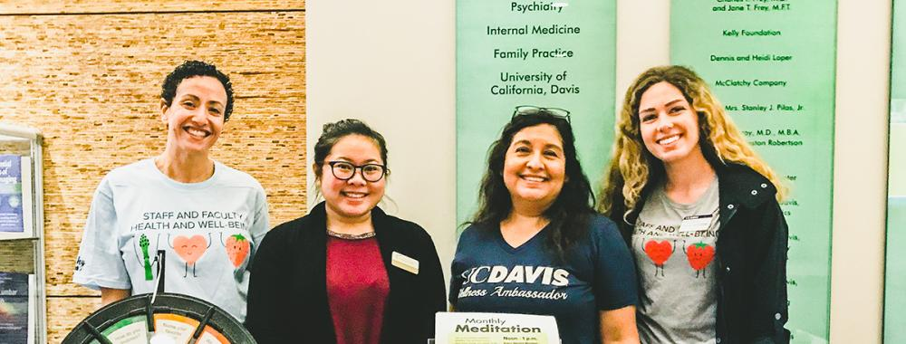 uc davis wellness ambassadors at campus wellness fair 2020