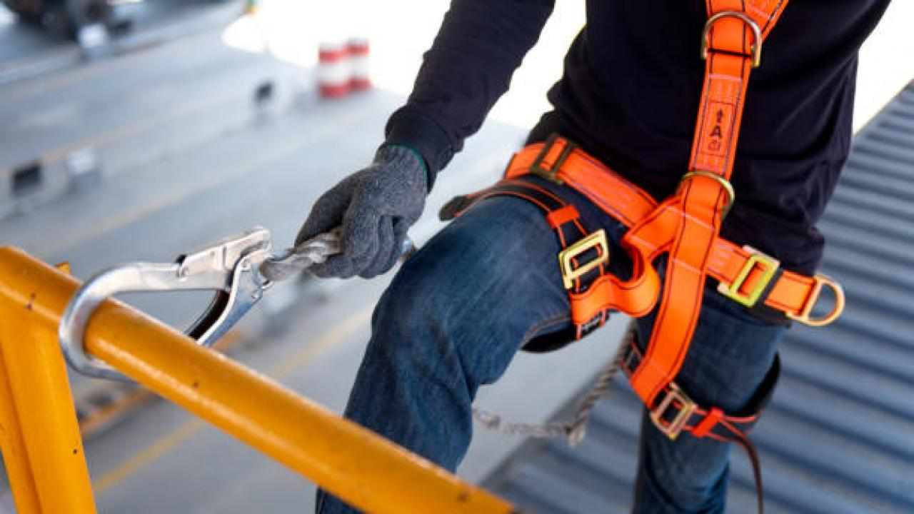 CP fall protection banner